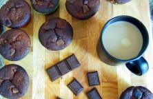 Šokoladiniai keksiukai su bananais