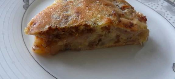 obuolių pyragas su karameliniais grikiais