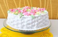 Tortas su maskarpone ir braškėmis